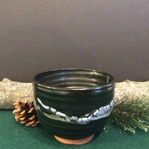 Tea bowl black with gray details