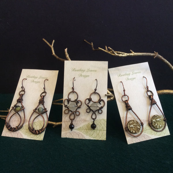 Assorted Earrings, Kathy Lahendro, Potsdam, NY