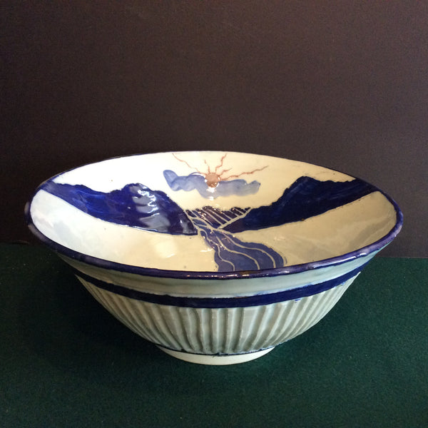 Large Bowl in Blues Landscape Design