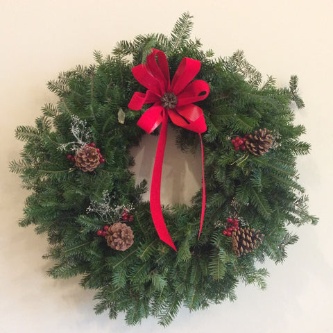 Balsam Wreaths (5 styles 3 sizes)