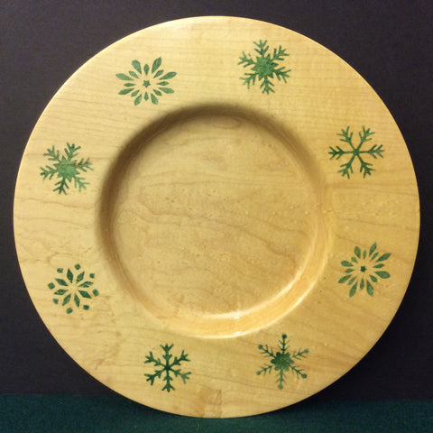 Plate with Snowflakes, David Buchholz, Augur Lake, Keeseville, NY