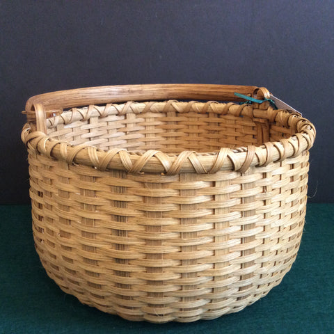 "Apple Basket with ""Indian"" Swing Handle, Sue Ulrich, Boonville"