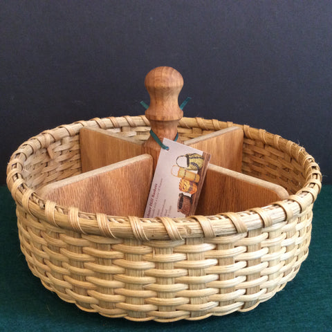 Four-compartment Table Basket, Sue Ulrich, Boonville, NY