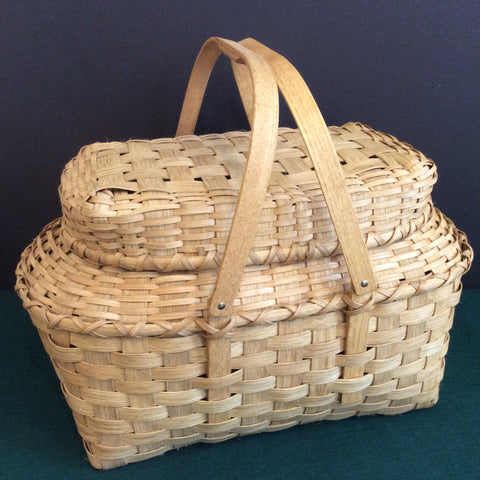 Covered Picnic Basket with Swing Handles, Sue Ulrich, Boonville
