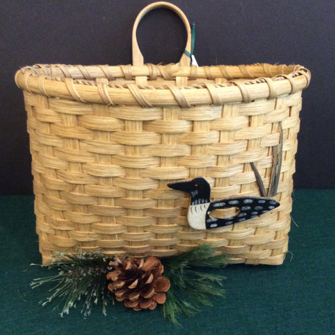 Wall/Door Basket with Loon, Sue Ulrich, Boonville, N