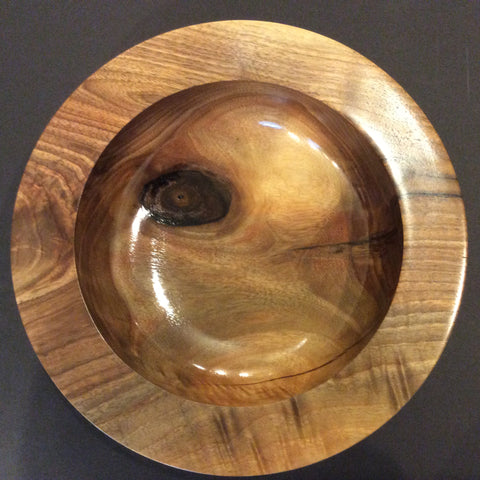 Walnut Bowl with Wide Rim, David Buchholz, Augur Lake, Keeseville, NY