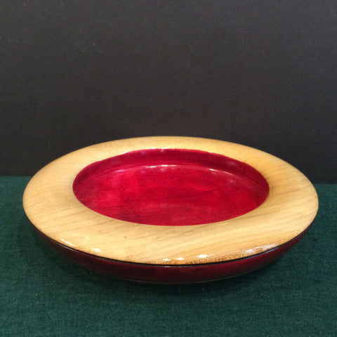 Small Bowl Rolled Rim Red Dye, David Buchholz, Augur Lake, Keeseville, NY