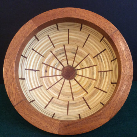 Segmented Bowl, Mahogany and Baltic Birch Plywood, Frank DiLeonardo, Watertown, NY