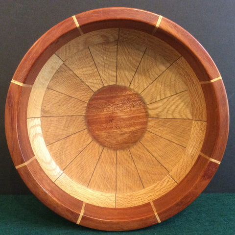 Segmented Bowl, Oak and Mahogany, Frank DiLeonardo, Watertown, NY
