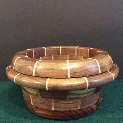 Segmented Bowl, Walnut, Frank DiLeonardo, Watertown, NY