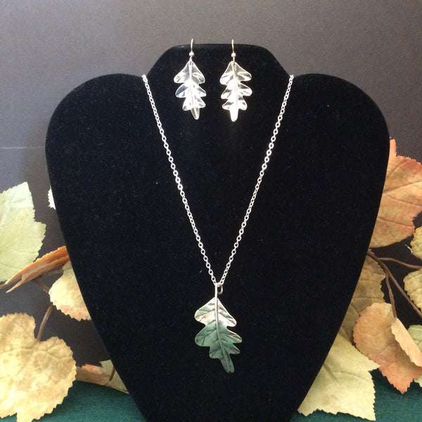Silver Jewelry White Oak Leaf Design, Mary Ann McLaughlin, St. Regis Falls, NY