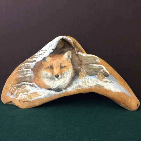Driftwood Painting Red Fox