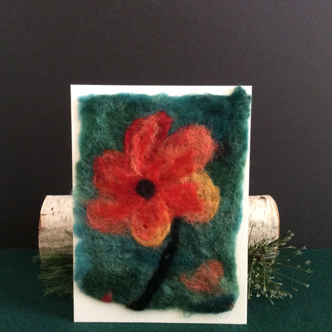 Hand Felted Card, Standing Strong, Kathy Montan, Canton, NY