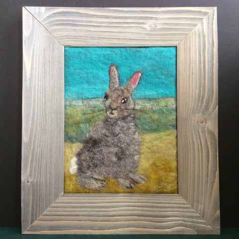 """Hiding in Plain Sight"" Hand Felted Farmed Art, Kathy Montan, Canton, NY"