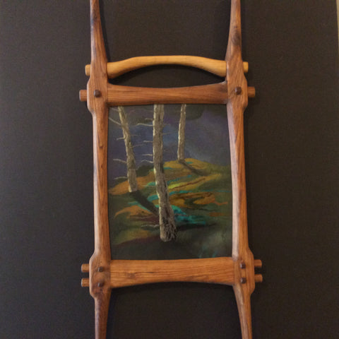 """Trees in Moonlight"" Hand Felted Framed Art, Kathy Montan, Canton, NY"