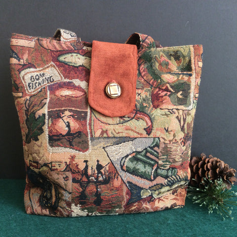 Tote Bag, Adirondack Themed Tapestry
