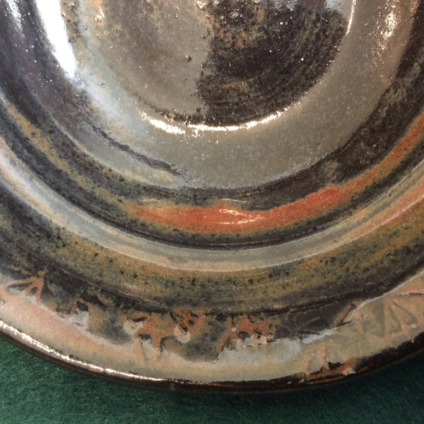 Small Stoneware Bowl in Browns with Rust, Jackie Sabourin, Lake Shore Road, Peru, NY