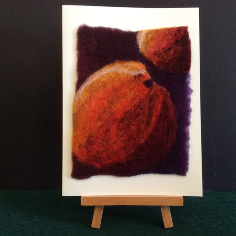 "Hand Felted Notecard ""Peaches"", Kathy Montan, Canton, NY"
