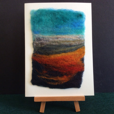 "Hand Felted Notecard ""Fall in the Valley"", Kathy Montan, Canton, NY"