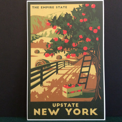 Vintage Travel Poster Upstate New York, Catherine LaPointe, Potsdam, NY