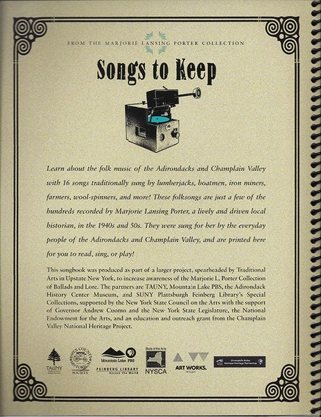 Songs to Keep Songbook