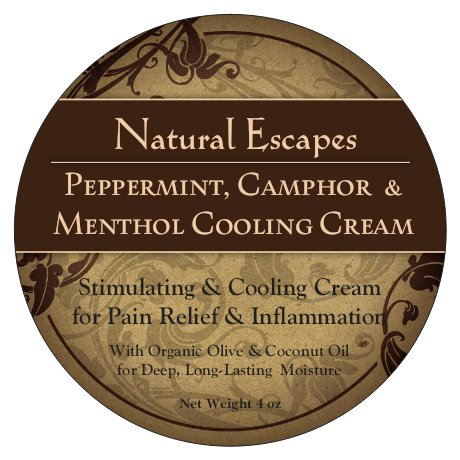 Peppermint, Menthol & Camphor Cooling Cream | Anti-Inflammatory & Pain Relief Cream