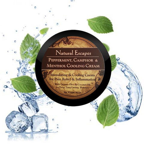 Peppermint, Camphor & Menthol Cooling Cream for Pain Relief & Inflammation