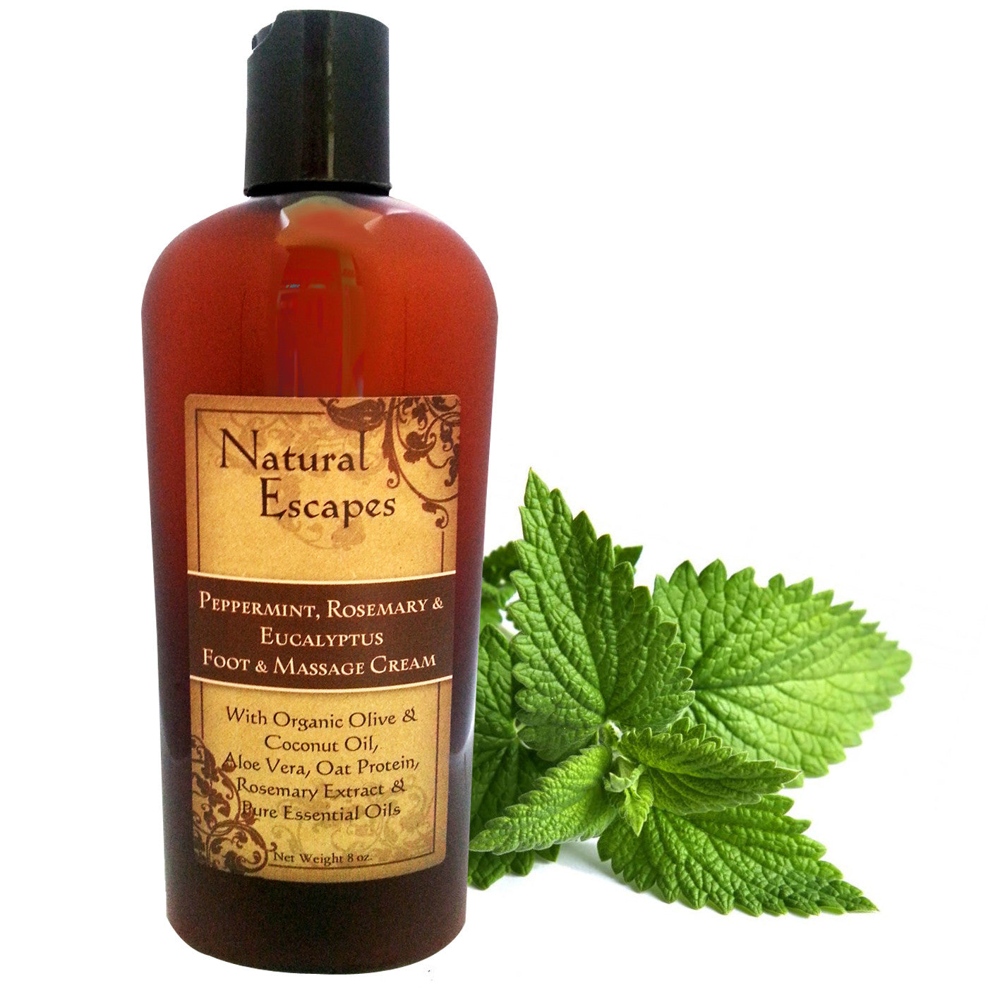 Peppermint, Rosemary & Eucalyptus Foot & Massage Cream for Ddy, cracked feet.  Therapeutic Massage Lotion