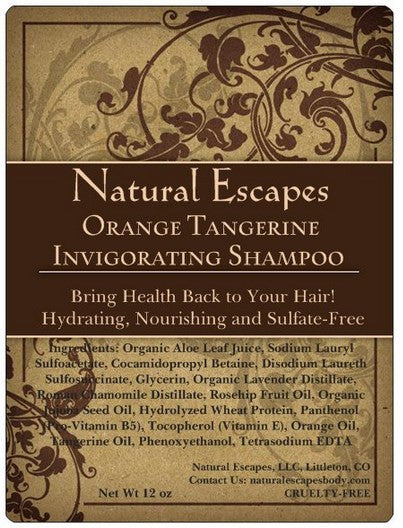 Orange & Tangerine Invigorating Shampoo | All Natural Shampoo for Oily Hair, Gray Hair, Hair Loss & More