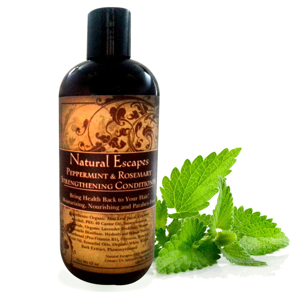 Peppermint & Rosemary Strengthening Conditioner | Organic Conditioner for Hair Loss & Hair Growth, Dry Hair, Color-Treated Hair & More