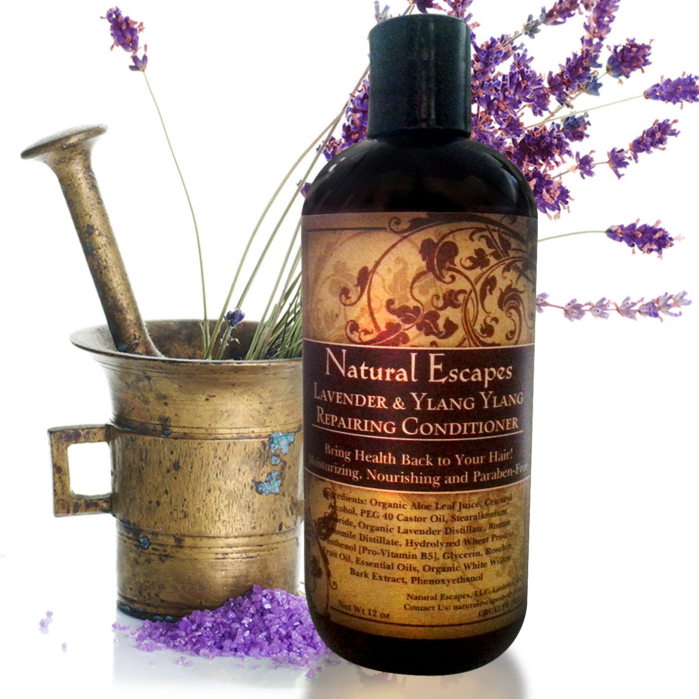 Lavender & Ylang Ylang Repairing Conditioner | Moisturizing Conditioner for Dry Hair, Color-Treated Hair, Hair Growth & More