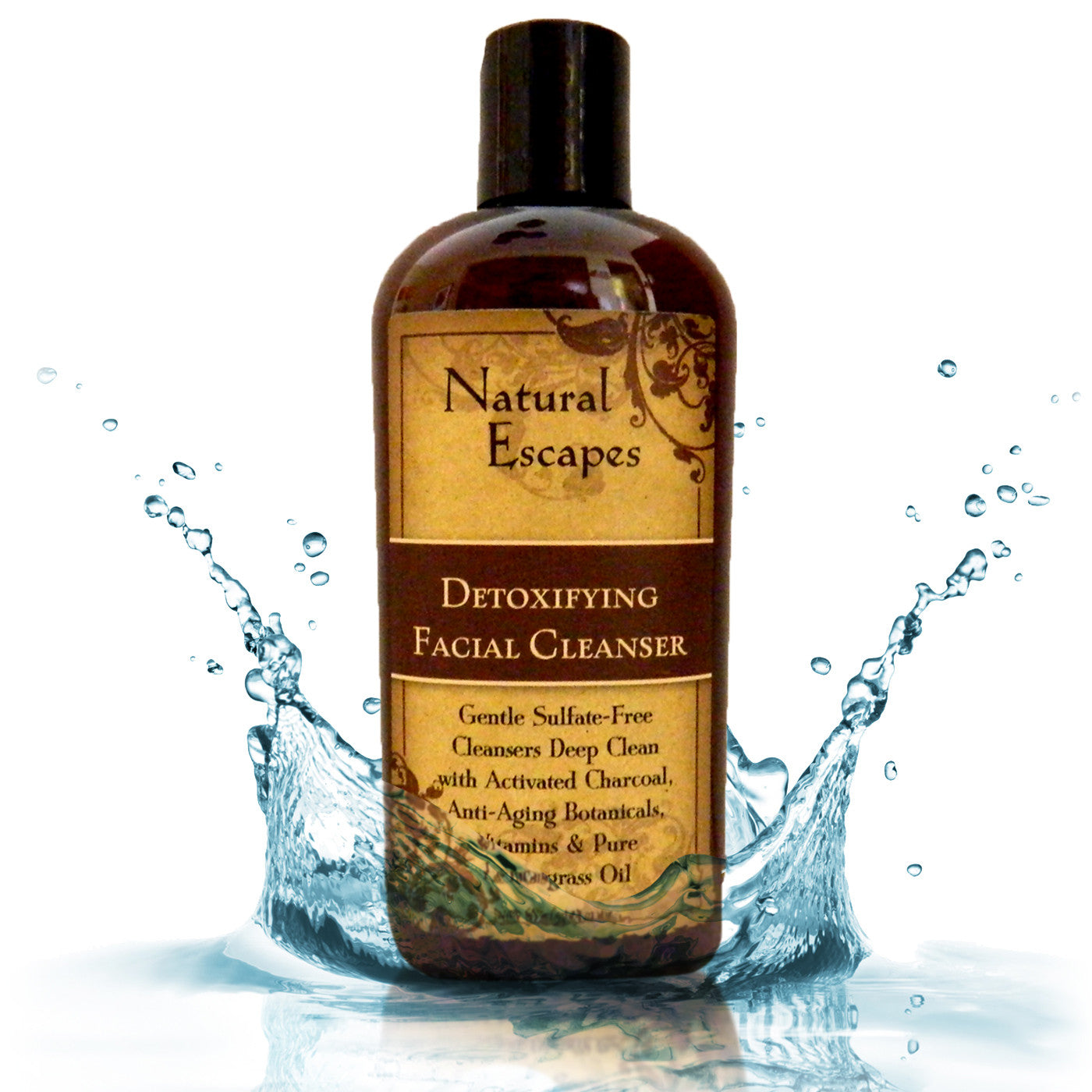 Lemongrass Detoxifying Daily Facial Cleanser | Sulfate-Free Face Wash with Activated Charcoal