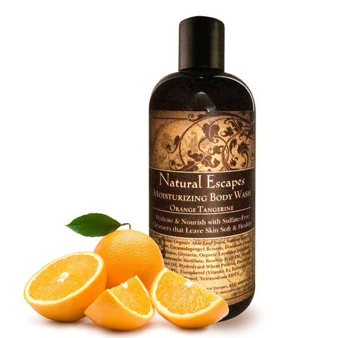 Orange Tangerine Moisturizing Body Wash | Organic Body Wash for Soft, Smooth Skin