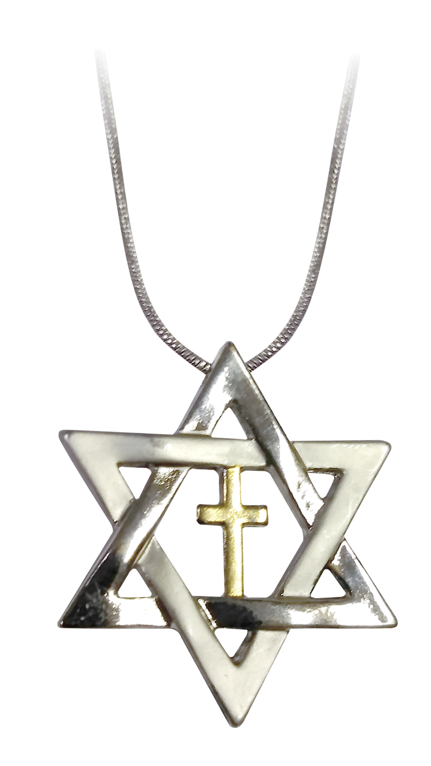 Star of David and Cross Necklace