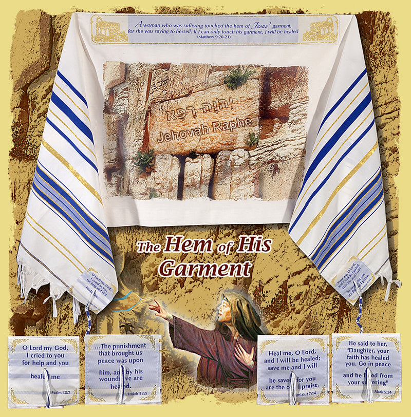 Messianic Prayer Shawl Tallit - Jehovah Raphe