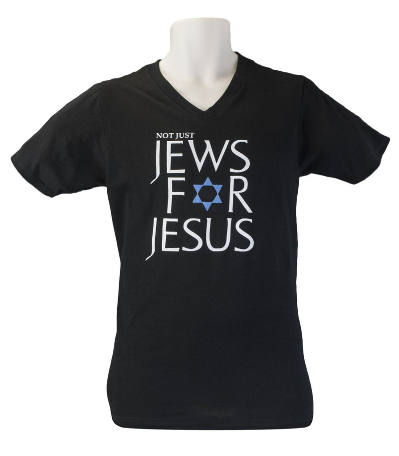 Not Just Jews for Jesus VNeck T Shirt
