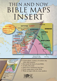 Then and Now Bible Maps Inserts