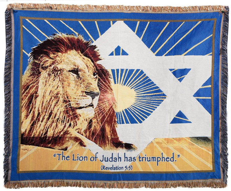 Lion of Judah Tapestry Blanket