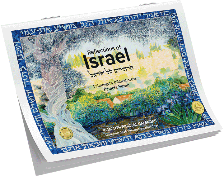 2020-2021 Reflections of Israel Calendar