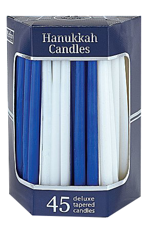 Blue & White Hanukkah Candles