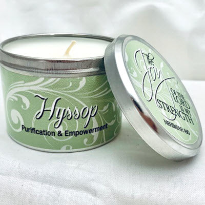 Hyssop Scripture Candle