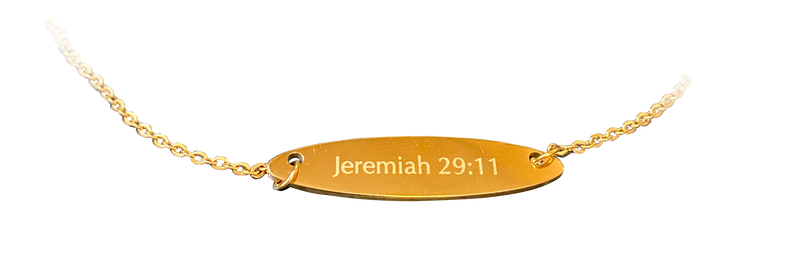 Jeremiah 29:11 Bar Necklace