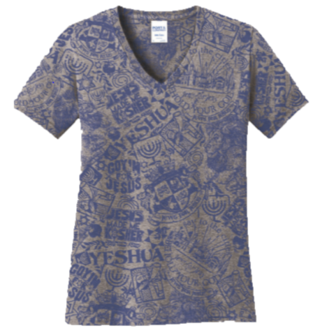 Stained Imaging V-Neck T-Shirt
