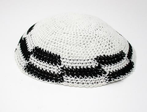 White & Black Kippah