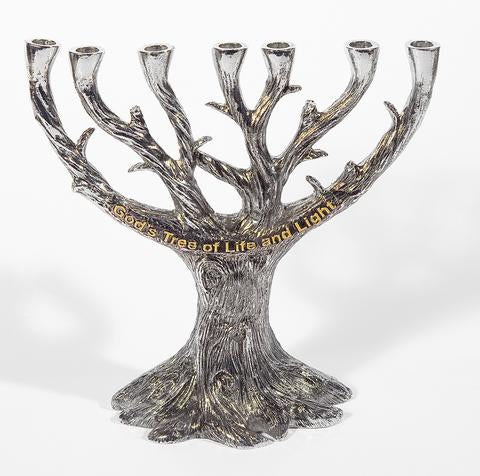 God's Tree of Life and Light Menorah