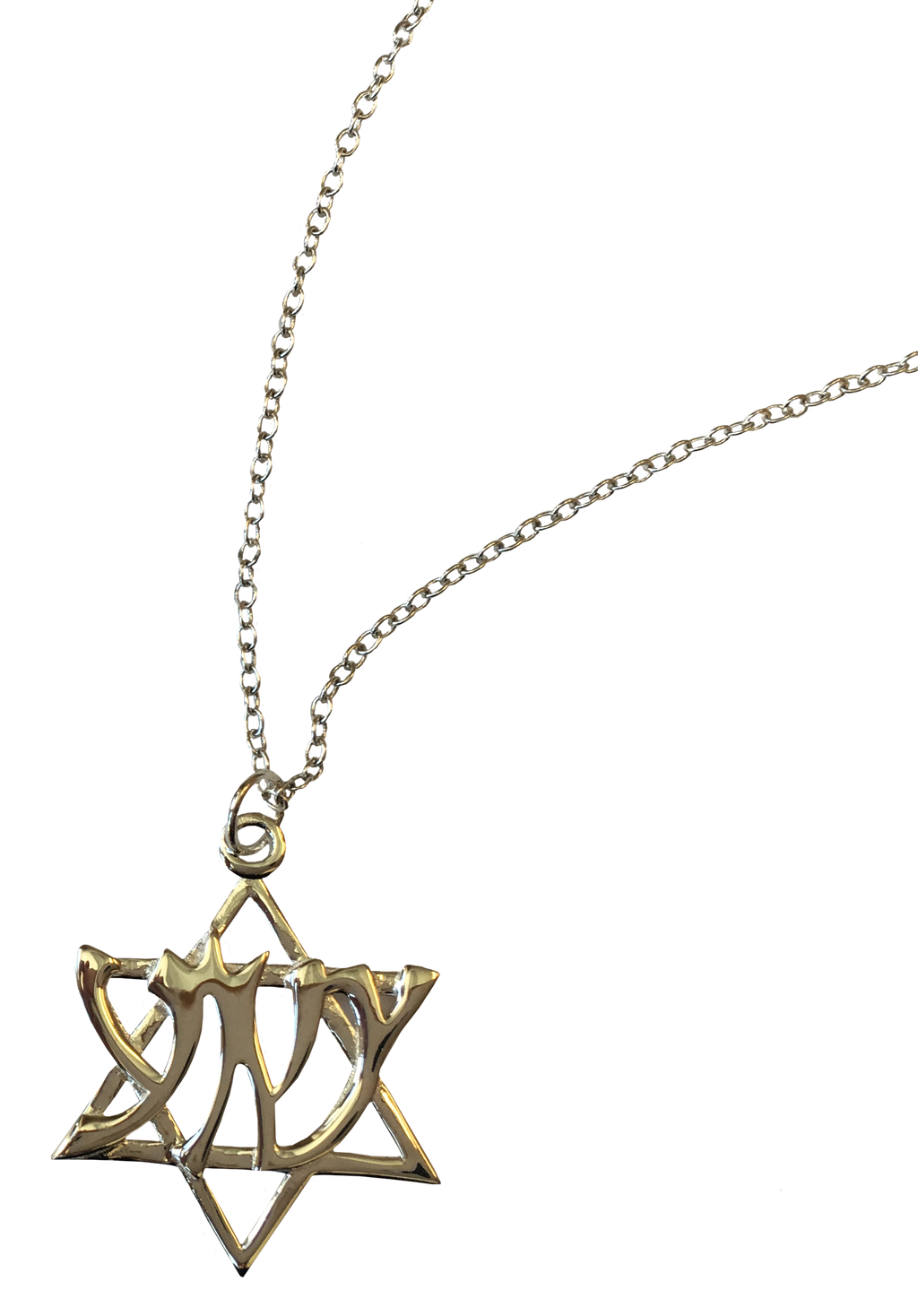 "Star of David ""Yeshua"" Hebrew Necklace"