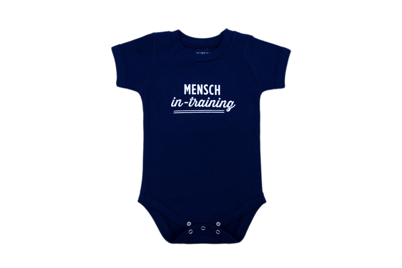 Mensch in Training Onesie