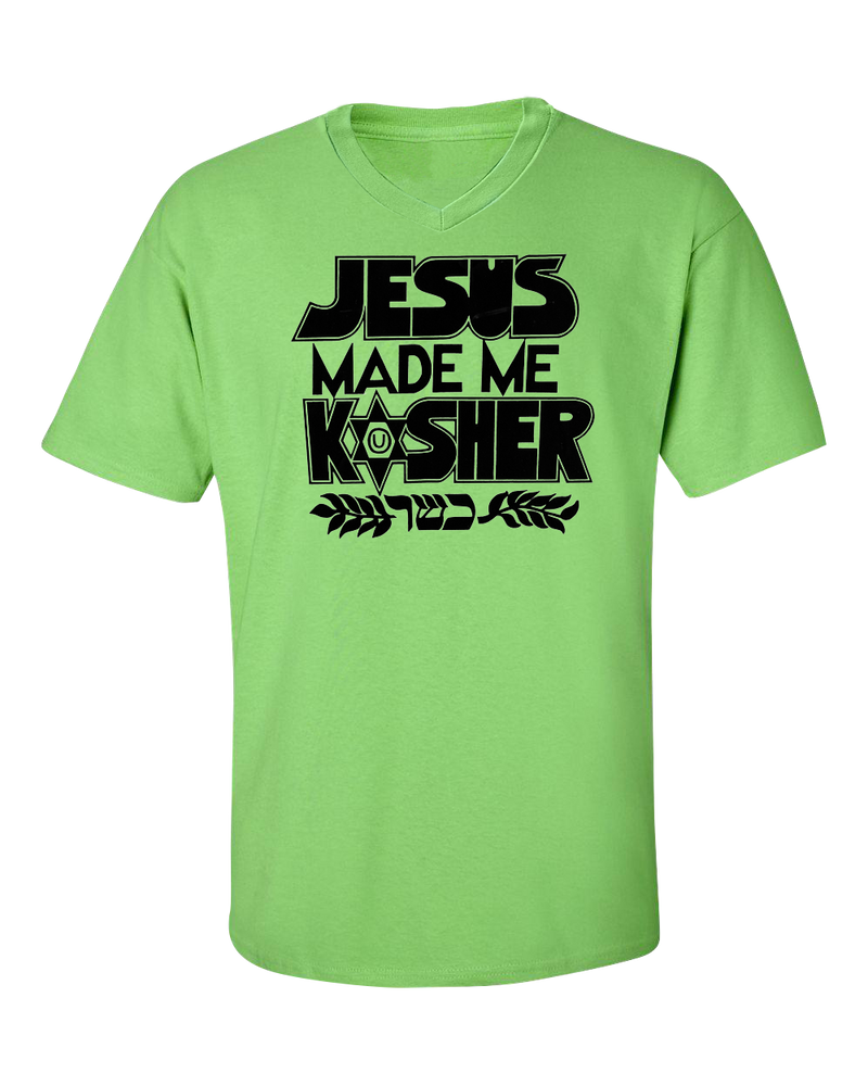 Jesus Made Me Kosher VNeck T Shirt