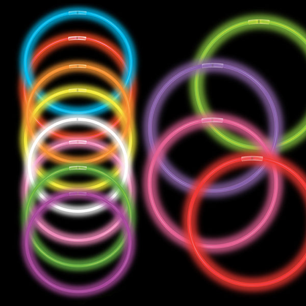 "22"" Assorted Premium Glow Necklaces (50/tube or 600/case)"
