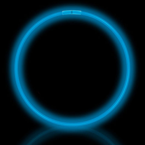 "22"" Blue Premium Glow Necklaces (50/tube or 600/case)"